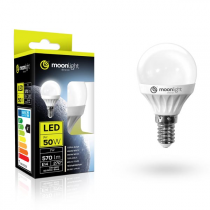 LED žárovka Moonlight E14, 220-240V, 5W, 405lm, 3000k, teplá, 25000h, 2835, 45mm/83mm