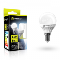 LED žárovka Moonlight E14, 220-240V, 7W, 570lm, 6000k, studená, 25000h, 2835, 45mm/83mm